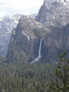 Bridalveil Fall, Tunnel View, Yosemite, Kalifornien